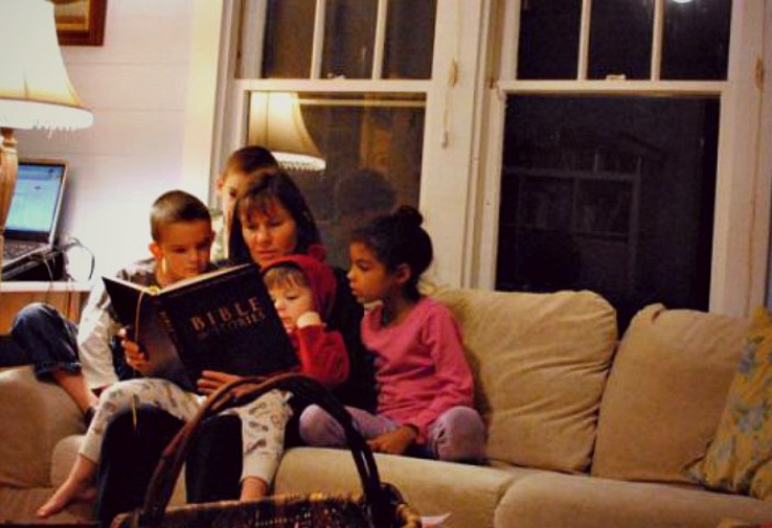 Wilkes family reading BIS